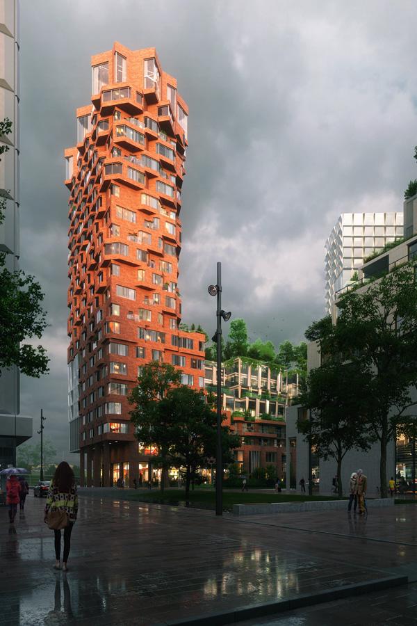 Gebouw De Puls In Amsterdam Met Hout Aluminium Kozijnen Van Duet