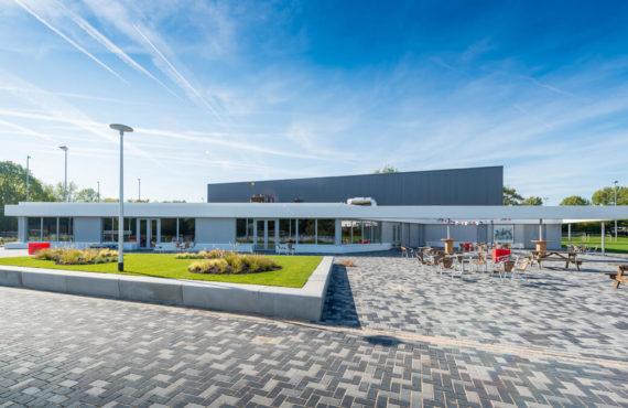 Vooraanzicht buitenzijde Sportaccommodatie Reijerpark